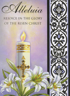Paschal Candle Alleluja Easter Card
