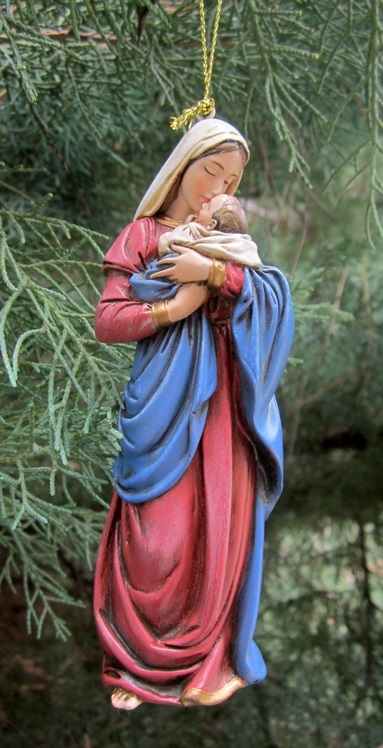 blessed mother and child ornament