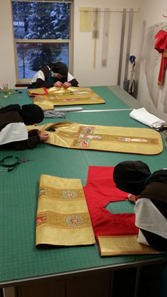 Working on Easter vestments