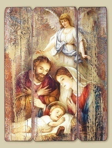 Holy  Family  Christmas wall plaque
