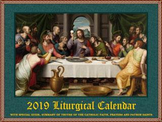 2019 Liturgical calendar
