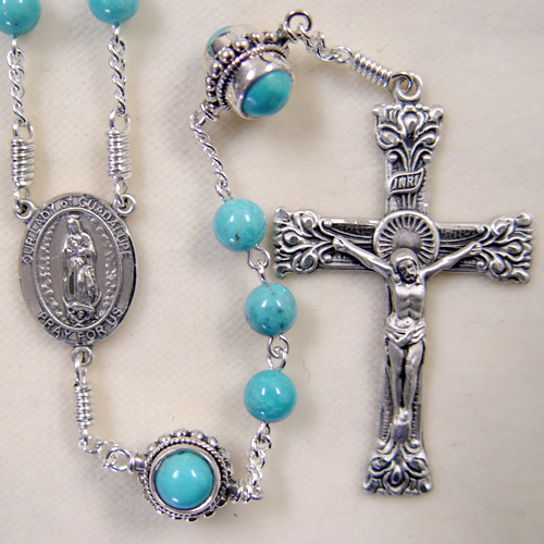 Turquoise ready made rosary