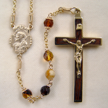 Amber ready made rosary