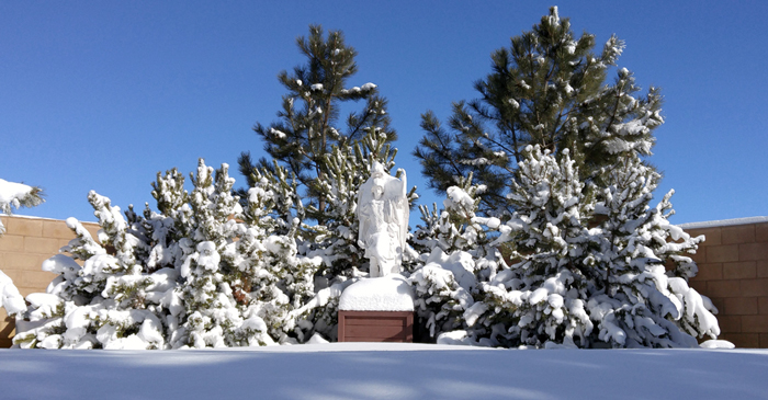 St. Michael in the snow